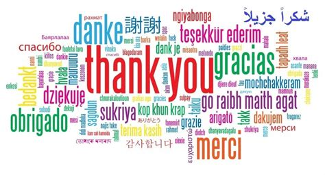 Thank you in 22 languages
