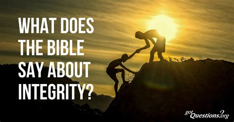 What does the Bible say about integrity?