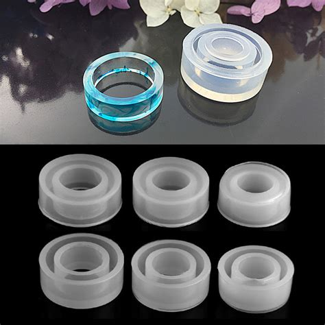 Clear Silicone Molds For Making Jewelry Ring DIY Mold 3D
