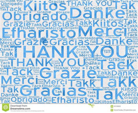 Thank You Words In Different Languages As Background Stock