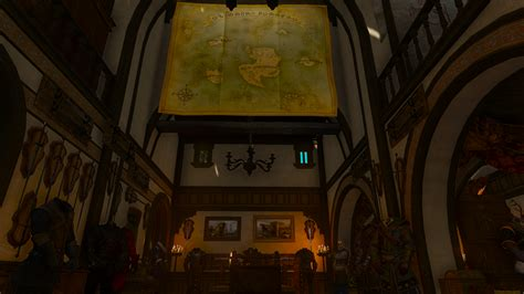 corvo bianco world map over dining room table : witcher