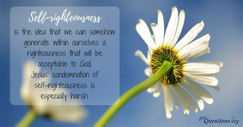 What does the Bible say about self-righteousness