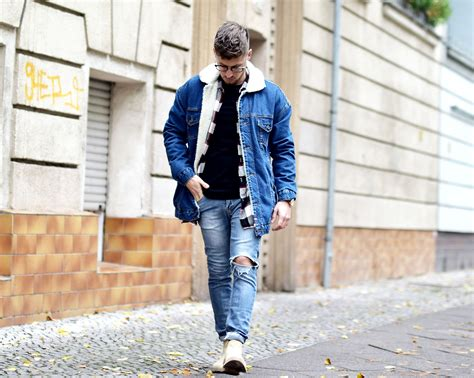 OUTFIT // JEANSJACKE MIT BORGFUTTER & CHELSEABOOTS